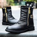 Winter trend of the British Martin boots boots round cotton plus high leather shoes leather boots
