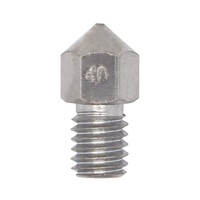 Stainless steel Nozzle 0.3mm 0.4mm 0.5mm M6 Screw thread For 1.75mm 3mm Filament High Quality For 3D Printer Accessories