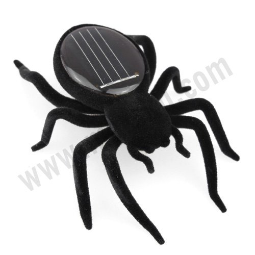 Educational Solar powered Spider Robot Toy Gadget XMAS#1275(China (Mainland))