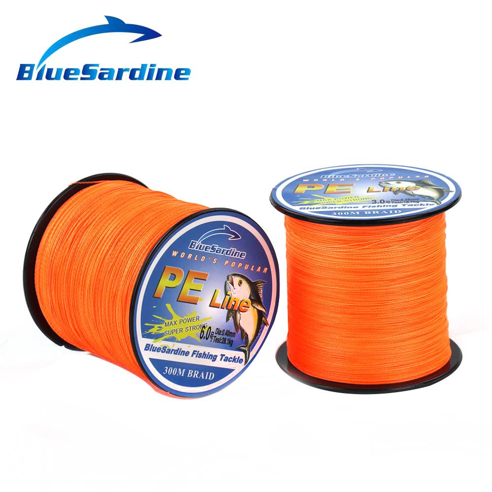Orange 300m multifilament braided fishing line strong for Orange fishing line