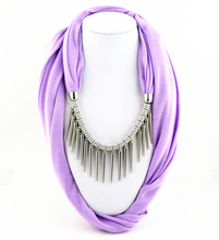 Multicolored Polyester tassel Pendant beautiful warmth Jewelry Scarf Necklace Women Scarfs Designers Brand NK798(China (Mainland))