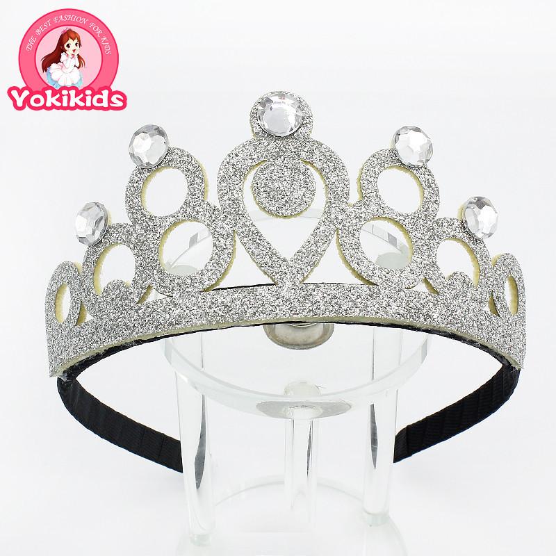 Classic Silver Crown Headband with Crystal Fashion Trendy Tiara Girl Headband Baby New Hairband Toddler Little Fairy Head Wear(China (Mainland))