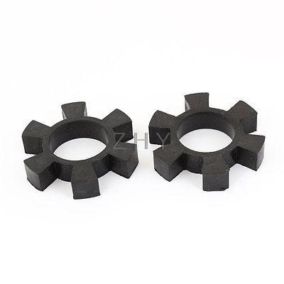 "2.5"" OD Rubber Center Spider Coupler Dampers Spider Cushions Black 2pcs(China (Mainland))"