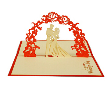 Fashion Hot Valentine day Wedding CARDS Invitations Delicacy Gift Handmade Creative 3D Cards Pop UP Gift(China (Mainland))