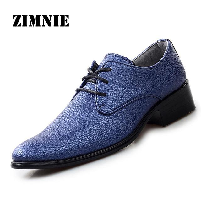 Кожаные ботинки квартиры мода оксфорд обувь для мужчин Высокое качество свадебные ...