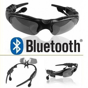 Brand New Black Stereo Wireless Bluetooth Sunglasses Headset Music for iPhone 5S 5C Samsung Nokia HTC