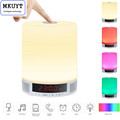 All in 1 Portable Wireless LED Table Lamp Speakers Alarm Clock Hands Free Speakerphone with Mic