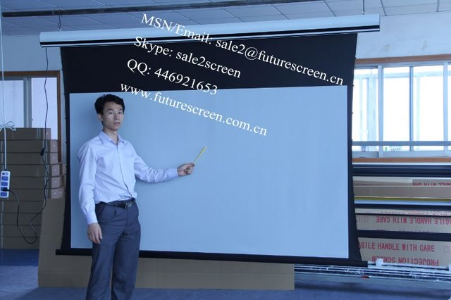 """FUTURE 133""""tab-tension screen with Motorized projection screen"""