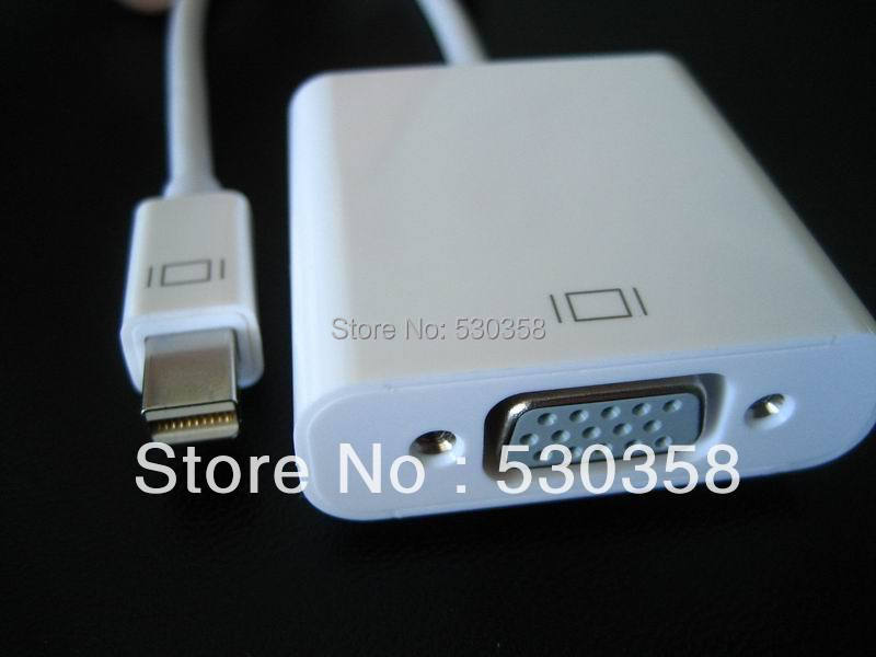 Free Shipping Thunderbolt Mini DisplayPort to VGA Converter for Apple Mac Macbook 0.2m(China (Mainland))