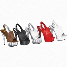 fashion 6 inch fashion brand GZ platform high heels 15cm sexy buckle peep toe sandals silver women Crystal shoes