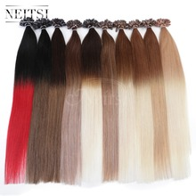 "5A Ombre Brazilian Remy Fusion U Nail Tip Human Hair Straight Extensions 20"" 1g/s 50g 100g 100% Brazilian Virgin Hair 10colors(China (Mainland))"