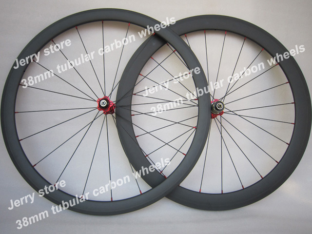 700C 38mm deel tubular carbon fiber road bicycle wheels,best quality<br><br>Aliexpress