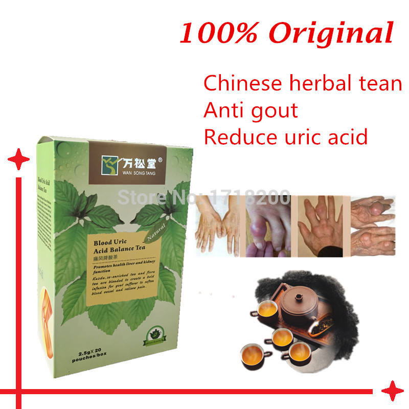 5 packs 5A grade herbal uric acid balance tea natural gout cure support reduce excess uric acid arthritis joint pain relief(China (Mainland))