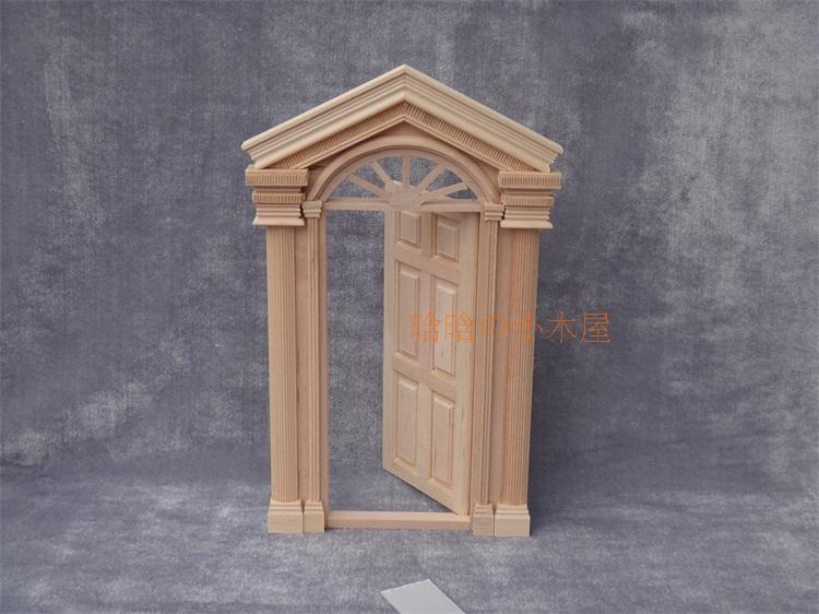 1 12 scale unfinished diy doll house miniature fairy door for Unfinished fairy door