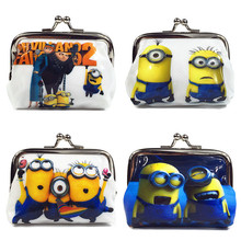 1 Piece Coin Purses Minion Square Hasp PVC Coin Purse Girls Minions Wallet Chilldren Minion Party Supplies Despicable me