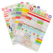 6pcs Simple Life Calendar Paper Sticker Scrapbook Calendar Diary Planner Decor(China (Mainland))