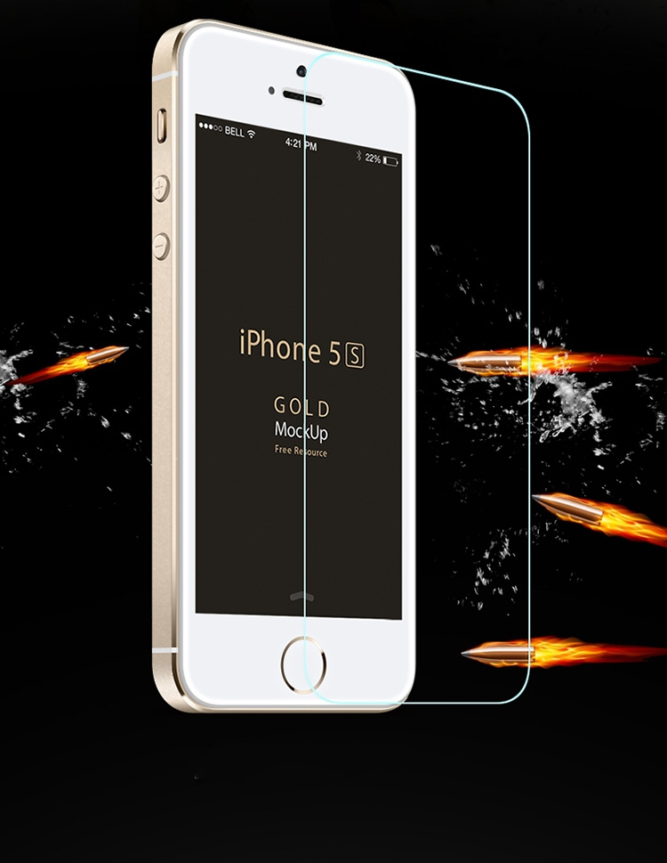 50pcs lot 0 3mm Thin Premium Tempered Glass For iphone 5s case font b Screen b