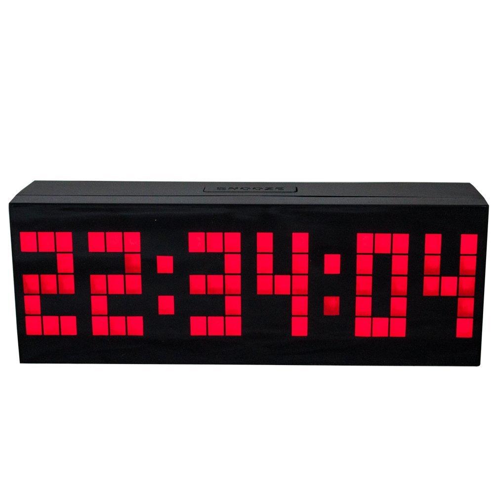 Big Led Digital Clock Snooze Alarm Calendar Temperature Countdown Function