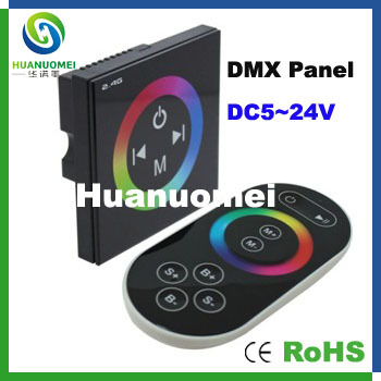 TM083 DMX Touch panel decoder with 2.4G remote;DC12-24V input;4A*3CH output(China (Mainland))