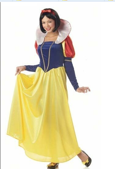free pp now white costume high quality Sexy Adult Halloween Princess costume Snow White Costumes For Women Party Dresses(China (Mainland))