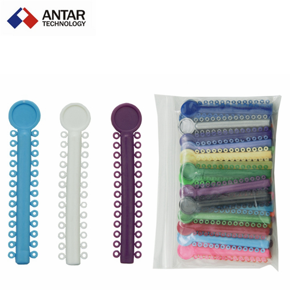 AT0270 5Bag 200PCS Dental Orthodontic Ligature Ties Colorful Rubber Band Elastic Dental Materials(China (Mainland))