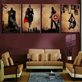 Unframed 4 Panel Superhero Man Handpainted Modern Abstract Oil Painting Wall Art Decor For Living Room