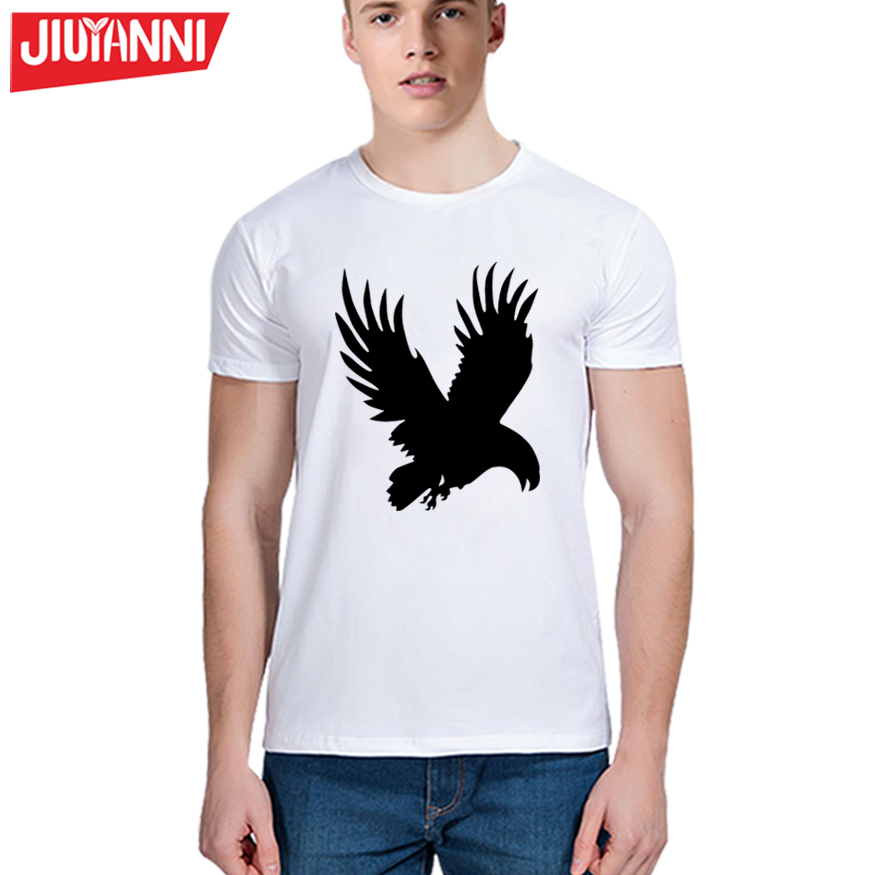 2017 Hot Sale Brand Clothing Fashion Casual T-shirt Men Creative eagle funny Print tshirt homme hip hop swag Tops&Tees S-5XL(China (Mainland))