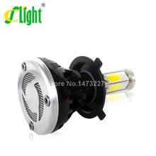 Newest LED Motorcycle Headlight H4 40W 6000K Super Bright 9-36V Hi/Lo Xenon White for All Motorbikes Headlamp p43t Light Bulb(China (Mainland))