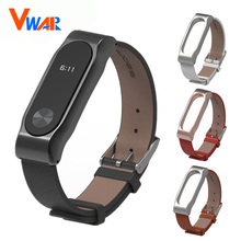 Buy Original Mijobs Mi Band 2 Strap Xiaomi MiBand 2 Lether Strap Metal Frame Bracelet Smart Wristband Replacement Straps Xiao mi for $7.35 in AliExpress store