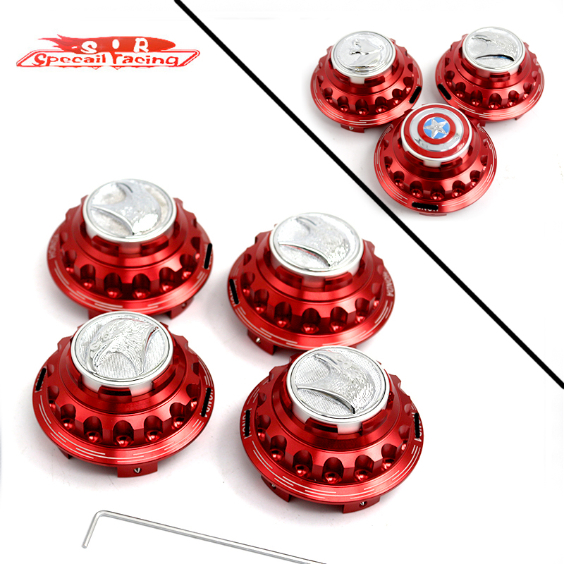 Special Racing - 4pcs/Set Personalized icon Wheel Center Cap For Honda Civic,Odyssey,Element,Pilot,Fit,Accord Red(China (Mainland))