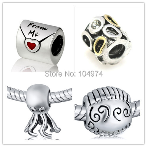 Wholesale Love Letter Charm 925 Sterling Silver European Charm Bead Fit Bracelet Snake Chain Female Jewelry(China (Mainland))