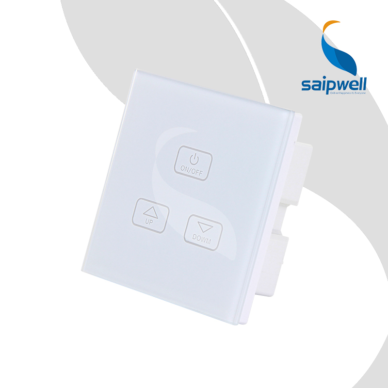 85VAC-250VAC Touching Screen Dimmer Switch,One 3 Way Learning Type White Mounted Panel Dimmer SPT-SM-1DM3(China (Mainland))