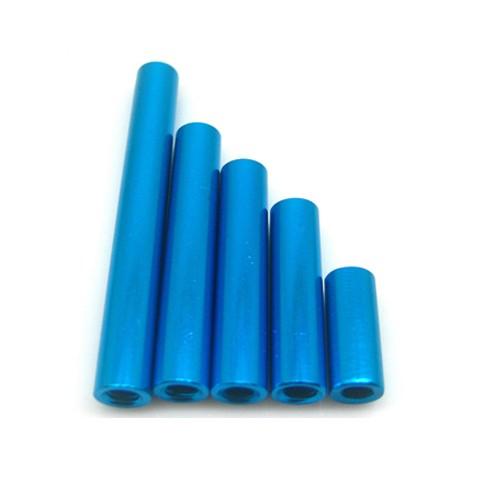 Length 40mm Diameter 5mm Aluminium Round Standoffs Blue Female Spacer / Nuts Threads M3 Pitch 0.5 mm Metric Fastener Light Hard<br><br>Aliexpress