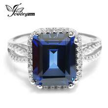 6.1ct Sapphire Ring Solid 925 Sterling Solid Silver Square Cut Fabulous Vintage Charm Engagement Wedding Jewelry For Women(China (Mainland))