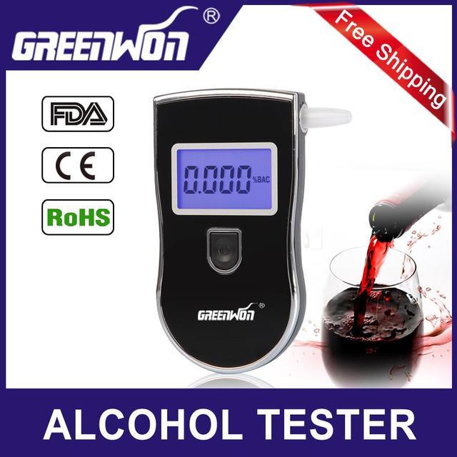 Patent Black Digital Alcotest Alcohol Breath Analyzer Detector Breathalyzer Tester Test Wholesale