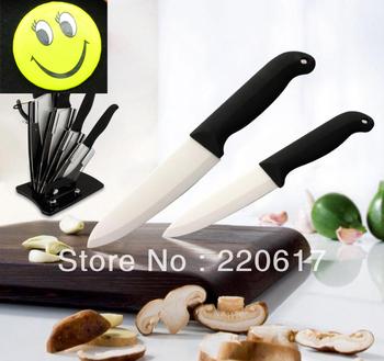 New Arrival Promotion Sharpening Kitchen Ceramic knife Set Free Shipping OEM Factory sale 6pcs/Lot, 6pcs/ set