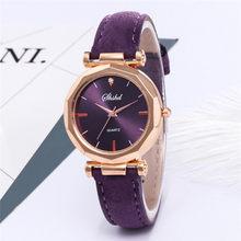 Reloj de pulsera de cristal de cuarzo analógico de lujo para mujer, reloj de pulsera Casual de moda para mujer, vestido de 2019 de lujo # A(China)