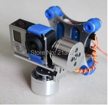 Aerial FPV Gopro3 Free commissioning two-axis brushless PTZ applicable Walkera QR X350 DJI Wizard