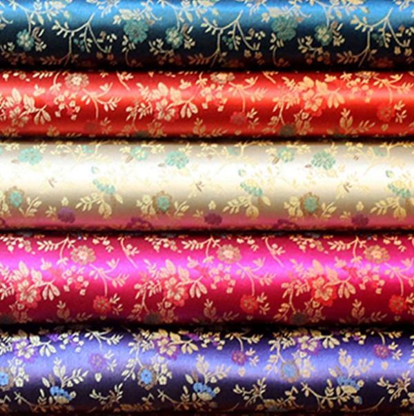 500cm*90cm Plant flower brocade furniture cushions fabrics silk fabrics packaging products cloth women dress costume diy fabric(China (Mainland))