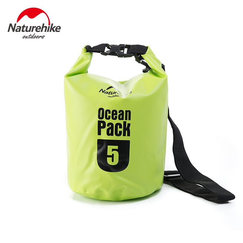 5L 10L 20L Barrel-Shaped 500D PVC Tarp River Trekking Drifting Seal Rafting Bag Ocean Pack Waterproof Bag Dry Bag For Outdoor(China (Mainland))