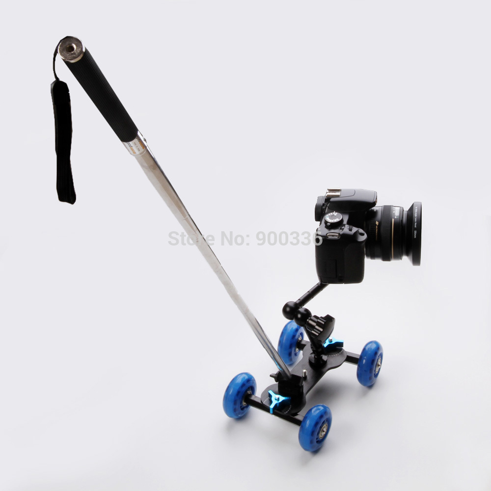 3in1 table photography dolly + 11 inch magic arm + handheld lever monopod dslr camera movie kit d7100 650d 70d 60d accessories