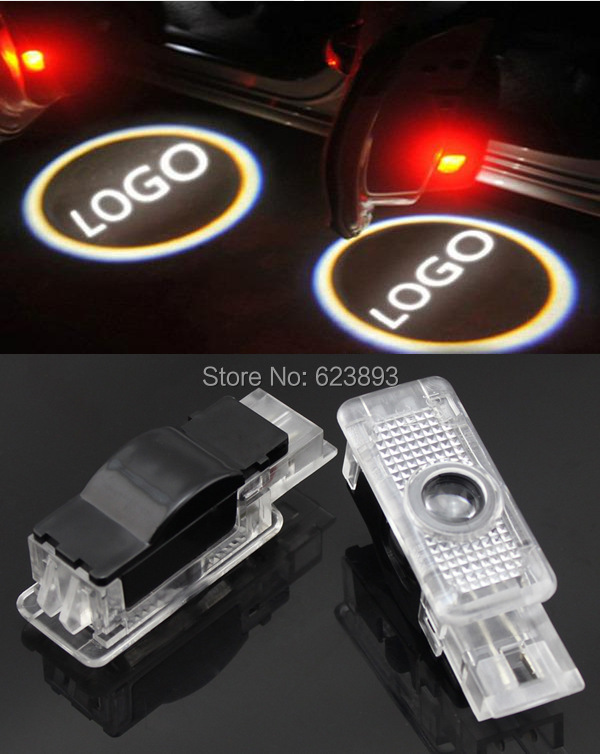 Free shipping,2x Error Free Laser LED Door courtesy car styling Projector Light For Mercedes Benz SLK R171 Coupe 2004-2010(China (Mainland))