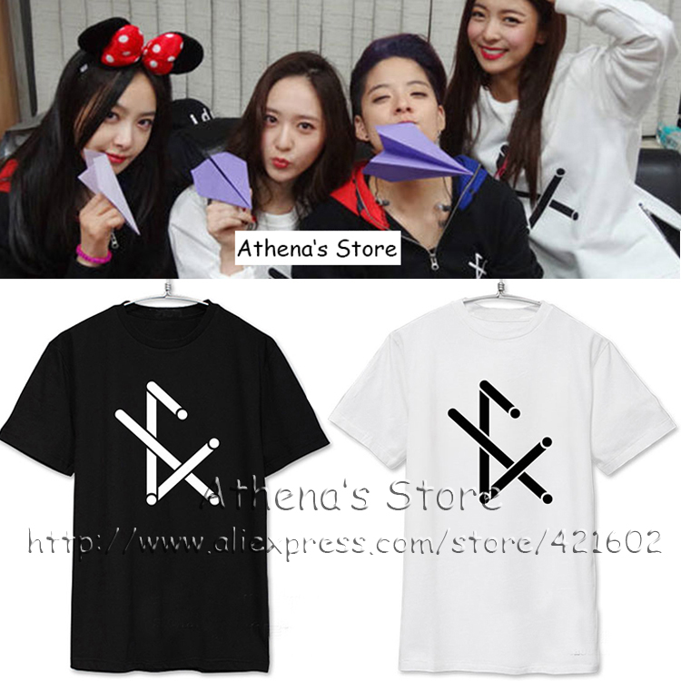 Women Men KPOP F(x) Concert fighting T-shirt 2016 fx krystal K pop t shirts korean style clothes FAN tee Top LUNA AMBER Victoria(China (Mainland))