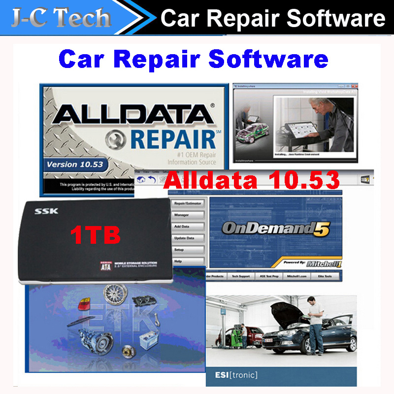 2015 newest alldata and mitchell software v10.53 with full set in 1tb hdd technical support via teamviewer auto repair software(China (Mainland))