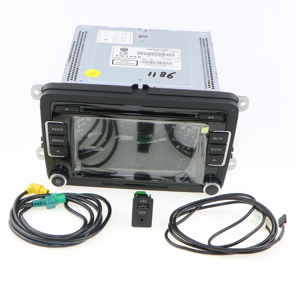 RCD510 Car Radio + USB AUX Plug Cables Code Reverse-Image CD MP3 Golf Jetta MK5 Passat B6 5ND 035 190A 5ND035190A - Jinxin Auto Parts Co., Ltd. store