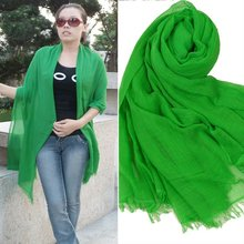 Solid Silk Scarves 200*130cm Long Scarf New Design Women Shawl Scarf For Summer Autumn Spring Winter(China (Mainland))