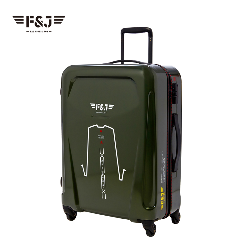 New! pure PC 20 inch 24 universal wheels trolley luggage travel bag suitcase hard case rolling - LUGGAGE CASE HANGZHOU store