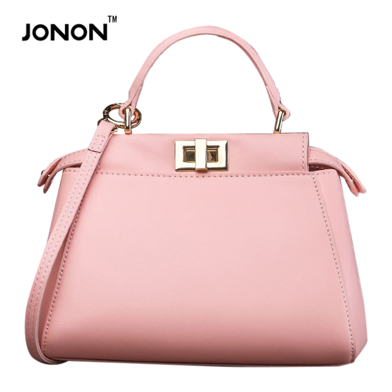 JONON Luxury Brand Designer Women Real Leather Totes Handbags Messenger Bags Ostrich Grain Crossbody Retro Fashion Bags Girls(China (Mainland))