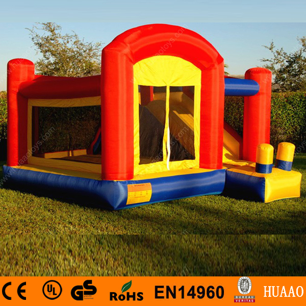 Hot sale 4x3.6m mini inflatable bouncer castle with slide