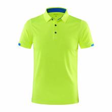 Camisas de tenis de mesa de golf de manga corta para hombre y mujer, ropa deportiva de gimnasio, camisa de bádminton, camiseta para correr al aire libre, ropa deportiva de secado rápido(China)